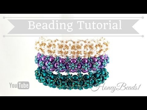 Amora Bracelet Beading Tutorial by HoneyBeads1 (Easy bracelet with pearls)