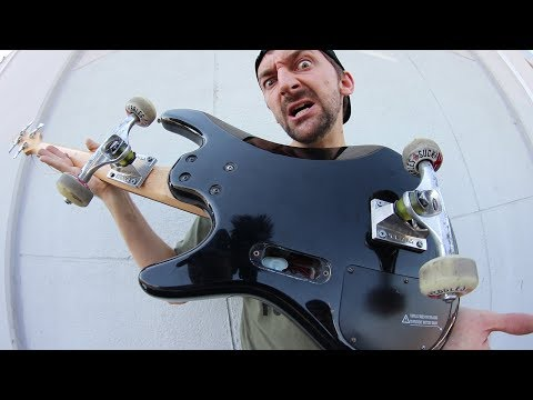 BASS GUITAR SKATEBOARD!! | SKATE EVERYTHING EPISODE 73