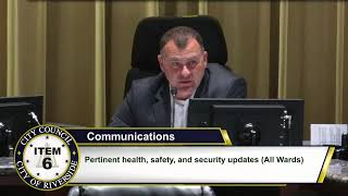 Riverside City Council Meeting Discusses Local Emergency Regarding COVID-19