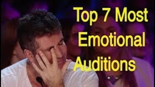 I BET YOU WILL CRY... Top 7 Most Emotional Auditions That Made Judges Cry :(