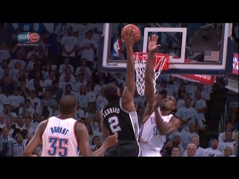 Kawhi Leonard Full Highlights Spurs vs Thunder Game 6 (5/31/2014) 17 Pts, 11 Reb - Project Spurs