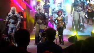 Игромир 2015 косплей ведьмак cosplay witcher. Triss and Yennefer Cosplay