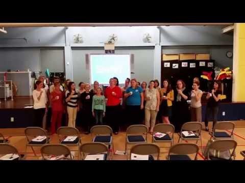 Childhood Cancer Awareness Lemon Juice Challenge - K-2 Avon Grove Charter School Staff
