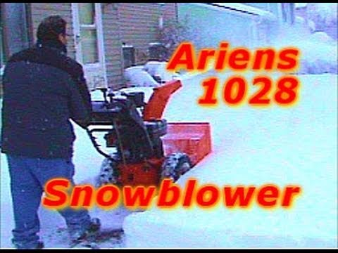 Ariens 1028 Snowblower PART 2 OF 3: Garbage Area