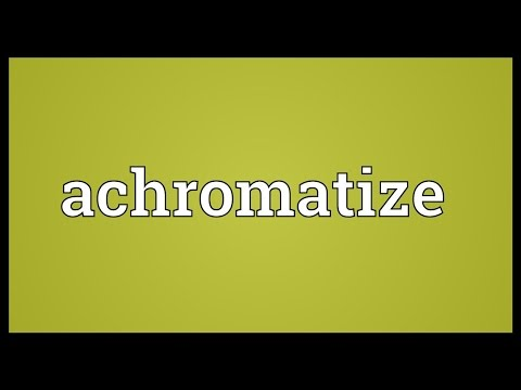 Header of achromatize