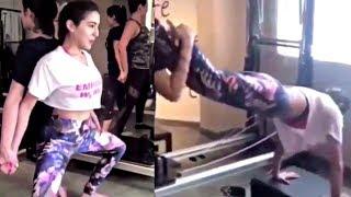 Saif Ali Khan Daughter Sara Ali Khan Workout For Simmba