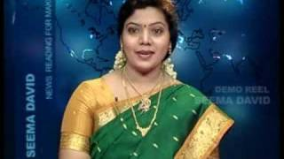 tamil news reader - seema david