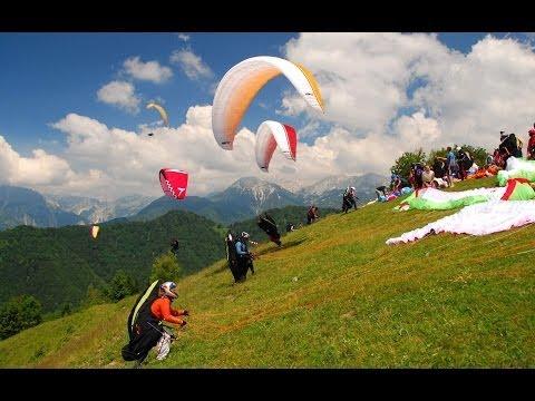 Paragliding in Slovenia, Tolmin, Kobala - Параглайдинг в Словении