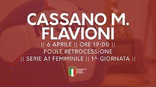 Serie A1F [1^ Poule Retrocessione]: Cassano Magnago - Flavioni 25-24