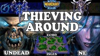 Grubby | Warcraft 3 TFT | 1.29 | UD v NE on Echo Isles - Thieving Around