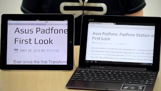 ASUS Transformer Infinity Screen vs new iPad Screen