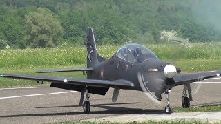 Embraer EMB 312 Tucano Brasil and French Turbine Propeller RC Model Airplanes