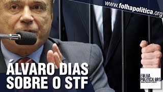 URGENTE: Senador Álvaro Dias expõe como o STF é 'feito para não funcionar' contra corruptos e faz..