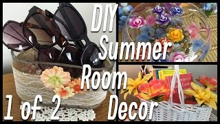 DIY Summer Room Decor | Sunglasses Holder, Ring Holder, etc. - PART 1