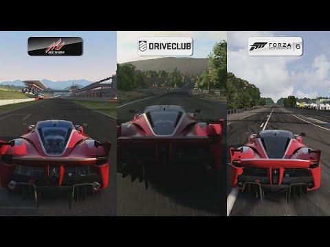 Assetto Corsa vs DriveClub vs Forza 6 - Ferrari FXX K Sound Comparison