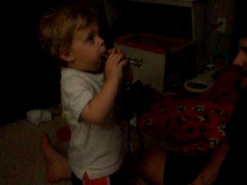 2 year old Landon Duck Calling Part 2