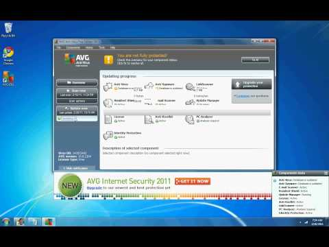 Installing AVG Antivirus on Windows 7.avi