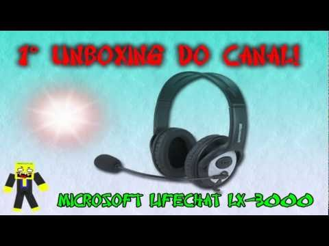 Headset Microsoft LifeChat LX-3000 - Unboxing + Teste (Review)