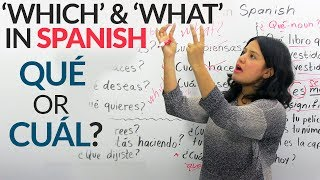 """""""What"""" & """"Which"""" in Spanish: QUÉ or CUÁL?"""