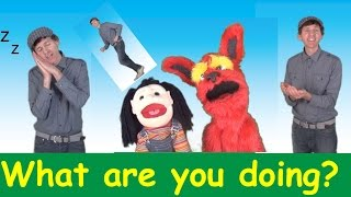 What Are You Doing? Song 1 | Action Verbs Set 1 | Learn English Kids