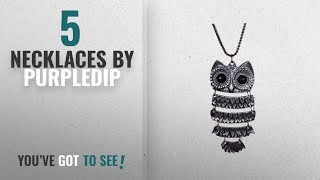 Top 10 Purpledip Necklaces [2018]: Purpledip Funky Girl's Necklace Long Chain: Oxidized Metal Owl