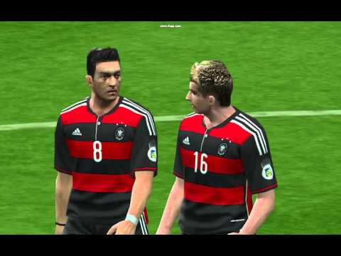 PES6 gaming live Brazil vs Germany 2014 world cup commentaires stonecold
