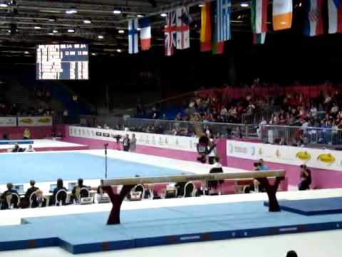 Diana BULIMAR ROU, Beam Senior Qualification, European Gymnastics Championships 2012