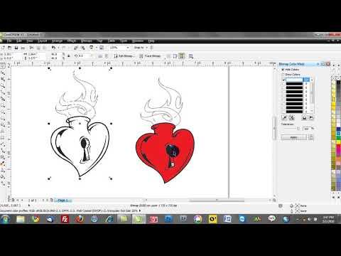 Corel draw training video tutorials: bitmap color mask