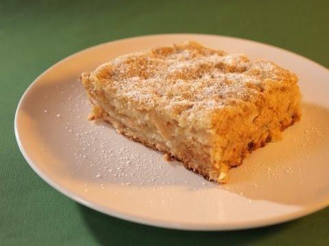 Самый простой яблочный пирог без замеса и без яиц, можно приготовить на сковороде