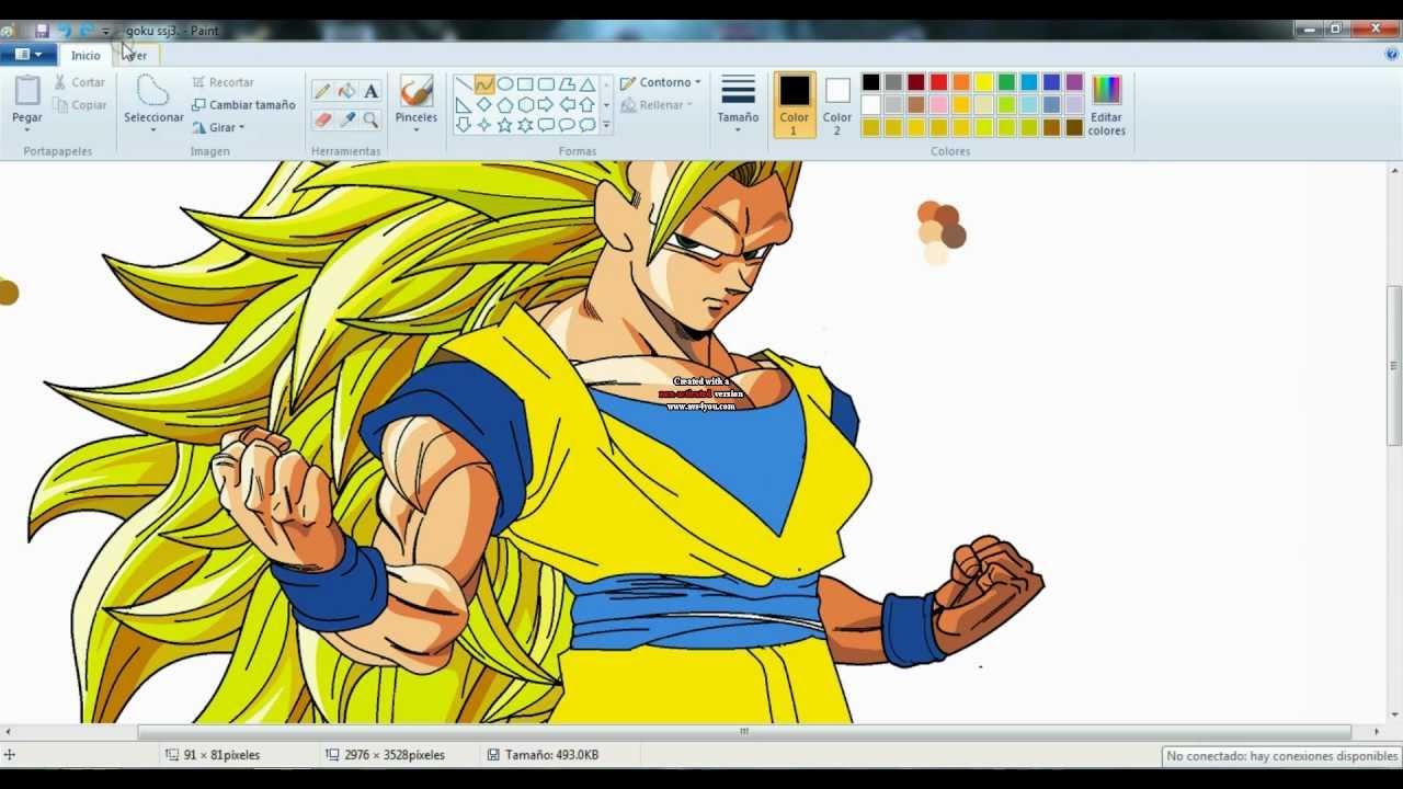 Drawing Gogeta Ssj4 ms Paint Drawing Goku Ssj3 in ms Paint