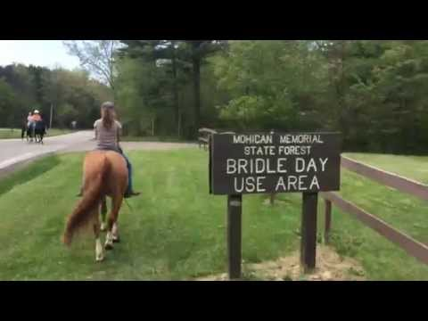 Trail riding in Ohio at Mohican State Park…bareback!