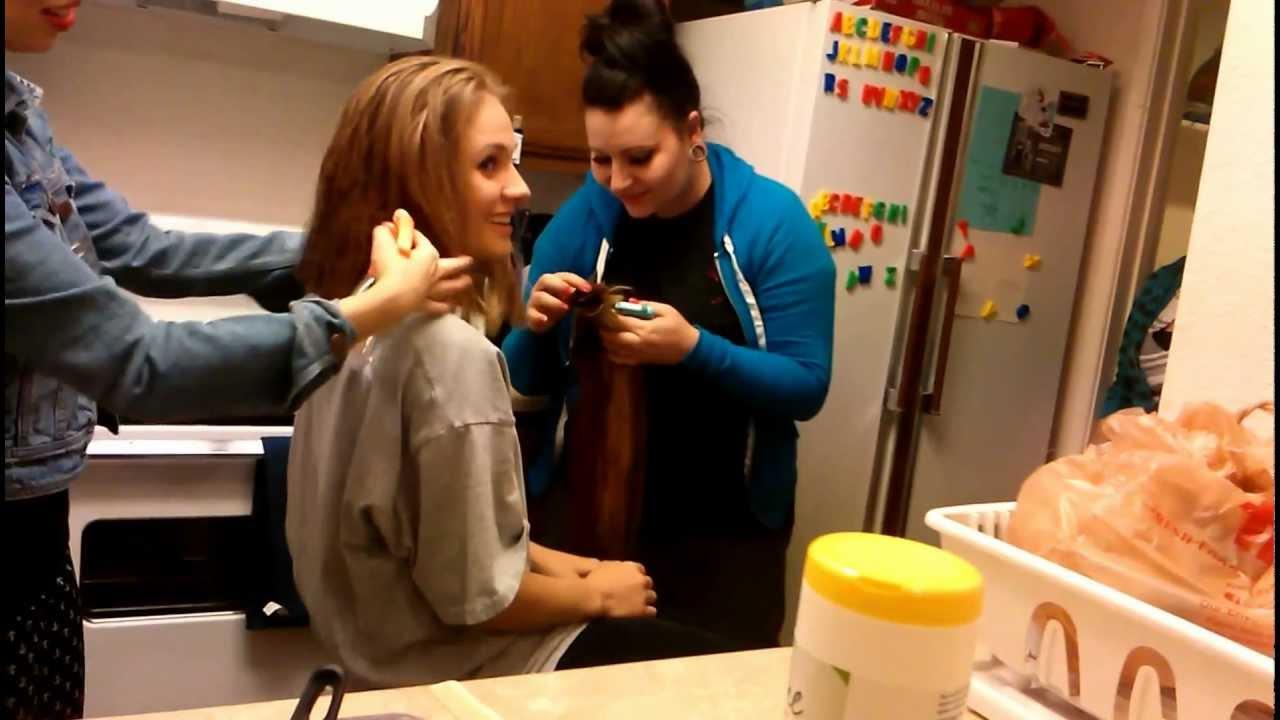 Long Hair Chopped Short YouTube