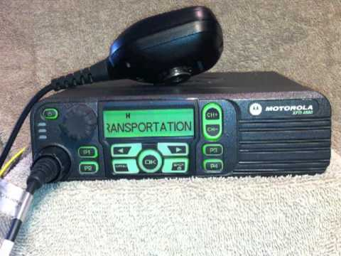 How to operate the Motorola XPR 4580 mobile radio