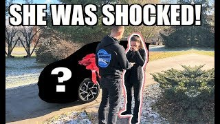 I BOUGHT MY GIRLFRIEND HER DREAM CAR FOR CHRISTMAS!!!!! HERE'S HER REACTION...