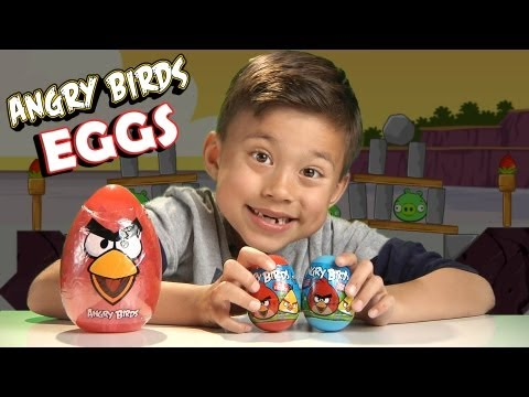 ANGRY BIRDS EASTER EGGS! What surprise is inside??? JUMBO EGG Unboxing!
