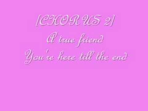 True Friend- Hannah Montana W lyrics video