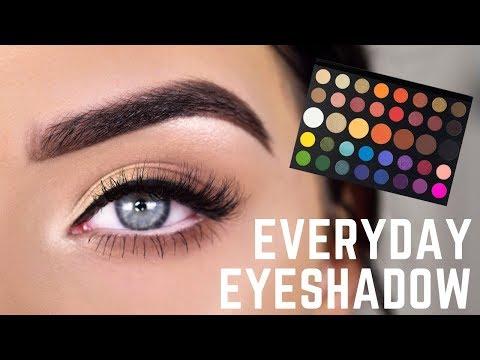 EASY EVERYDAY EYESHADOW | James Charles Palette Eye Makeup Tutorial - YouTube