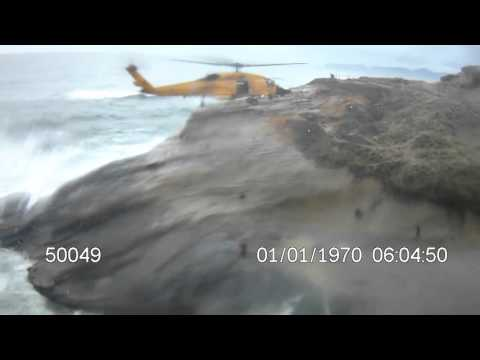 USCG Helicopter Rescue Swimmer and Crew respond to RWC crew mishap