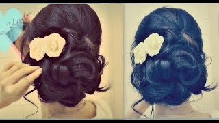 Download ★ Easy Wedding Updo with Curls | Prom Hairstyles Hair Tutorial 3Gp Mp4