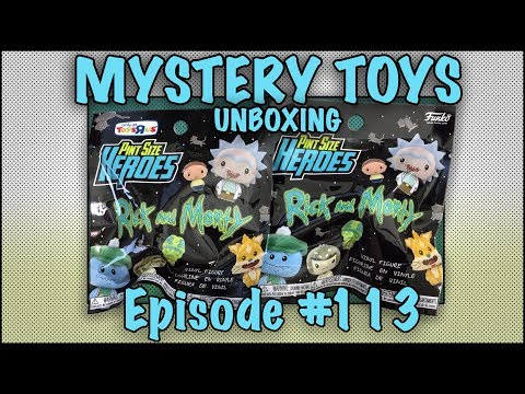 MYSTERY TOYS! Episode #113 - Unboxing Rick and Morty #Funko Pint Size Heroes Toys R US Exclusives