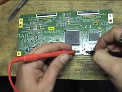 Como reparar TV LCD Westinghouse LTV40w1 Audio presente sin video, sin imagen.