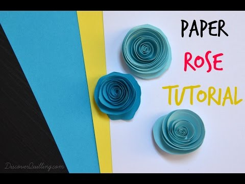 How to make paper quilling rose