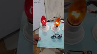 My student's project how make a disco light circuit(electricity)