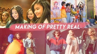 BEHIND THE SCENES OF PRETTY REAL | Recording, Music Video, Practice (Indo)