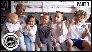 DEALING WITH THE KIDS MIXED RACE HAIR || PART 1 HARPER AND HALLE