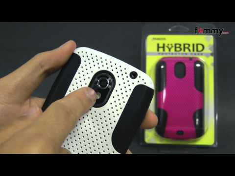 Amzer Silicone-Perforated PolyCarbonate Hybrid Case - Black/ White