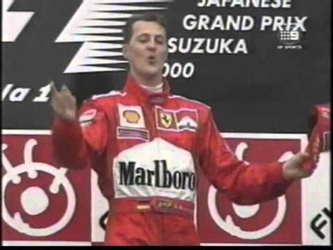 Michael Schumacher Suzuka 2000 podium