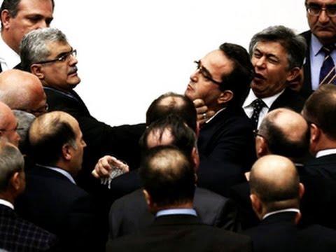 Brawl erupts in Turkish parliament