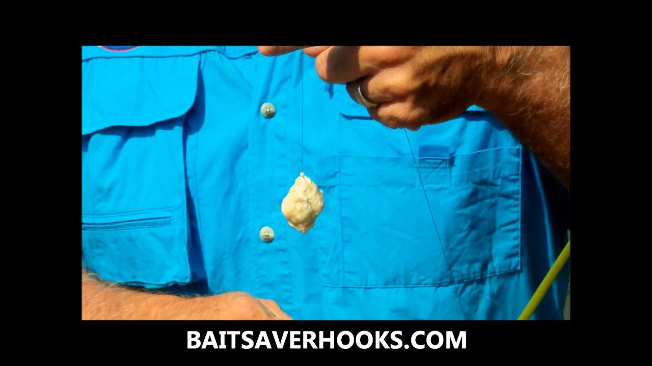 how to make dough bait stay on the hook