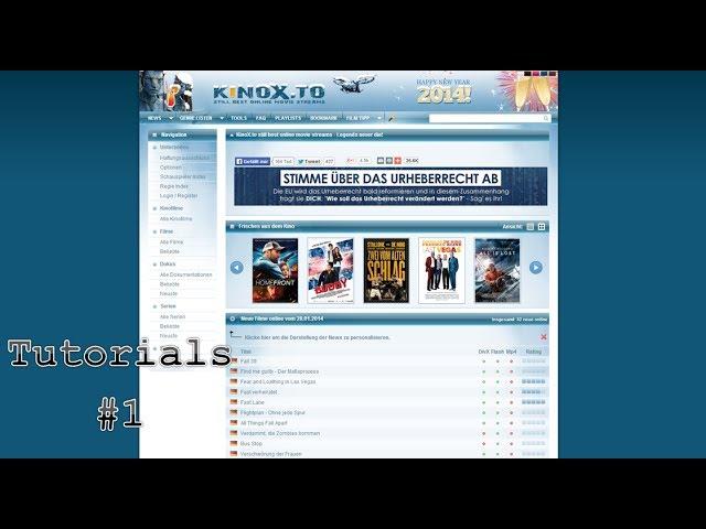 Tutorial #1- Kinox (kostenlos Filme ansehen)